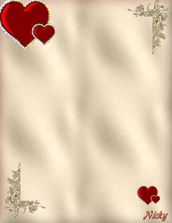 papier à lettre romantique gratuit
